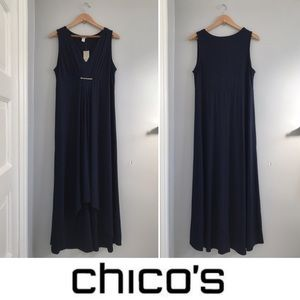 CHICO'S Hi-Low Maxi Dress